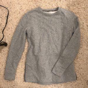 Lululemon grey sweatshirt with zippers